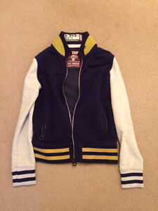 SUPERDRY varsity zip up jacket - Size Medium