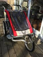 Chariot double Cougar 2 (2011) et roue de jogging