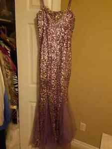 Sequence lavender dress