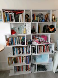 Bookshelf storage, book shelf, bookcase x2