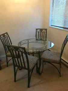 Glass Dining Table and Chairs *EXCELLENT CONDITION