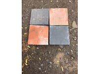 Red and Black/Blue Victorian Quarry Tiles