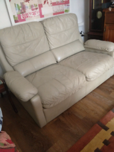 LEATHER COUCH -2SEATER