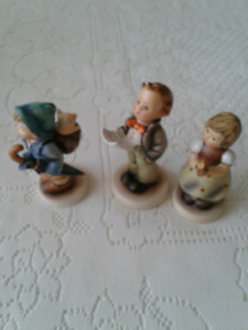3  VINTAGE MJ HUMMEL  /GOEBEL FIGURINES