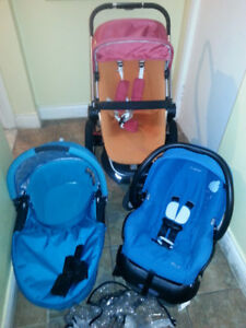 Quinny Buzz stroller ,bassinet,car seat ,adapter ,etc