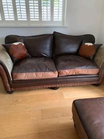 Leather sofa 3 piece