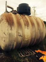 Fiberglass gas tank