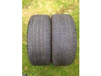 2x 225/45/17 Continental Tyres