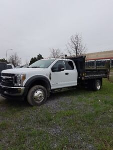 2018 Ford F-550  SUPERCAB 4X4  XLT Chassis with Dump