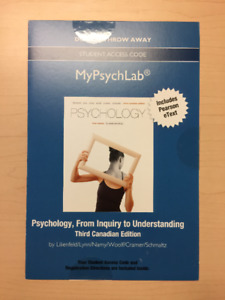 MyPsychLab Access Code for Psychology, Lilienfeld, 3rd Canadian