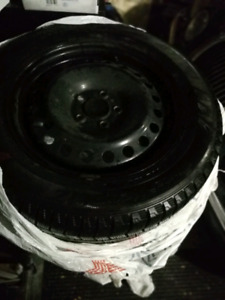 Tires 225/55/16 with steel rims