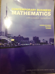 Contemporary Business Mathematics for George Brown College