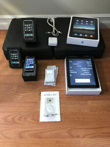 Apple 1st Generation Collection - iPod, iPhone, iPad w/ Rare Box