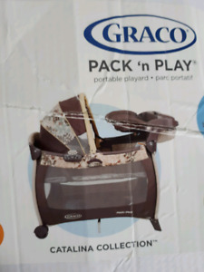 Graco delux Pack n' Play, snuggabunny bouncy chair, bumbo w tray