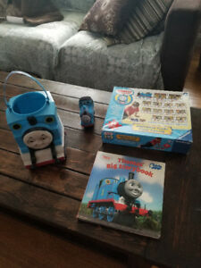 Thomas the Train Book, Puzzle, Bucket and plush toy