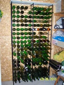 Two Wine Racks     and Wine Bottles
