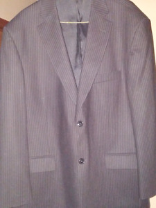 Black pinstripe suit with pants, size 44 regular