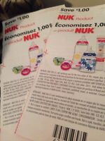 Two 1$ off any Nuk product