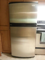 "REFRIGERATOR - WHIRLPOOL GOLD STAINLESS 66.25""H X 30""W"
