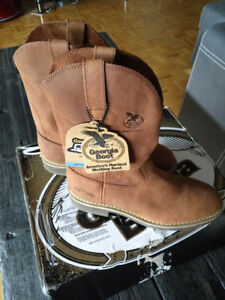 NEW Georgia Boot Men's Carbo Tec Work Leather Boots Sz10D