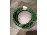 2x roll of PVC green fencing wire