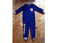 Boys fleece sleep suit 3 to 4 years