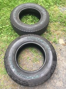 2 truck tires for sale 225/75/16