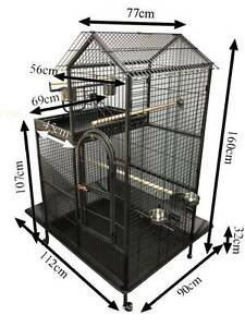 Large 2 Storey Parrot Aviary Bird Cage Perch Roof Budgie On Wheel Riverwood Canterbury Area Preview