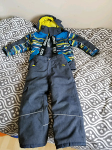 Winter jacket and snow pans  size 6