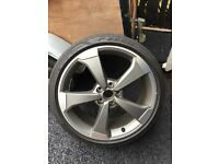 One Genuine Audi RS3 alloy wheel