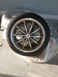 20 inch non studded winter tires with rims