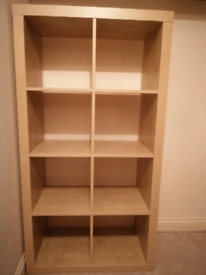 Ikea Kallax white stained oak