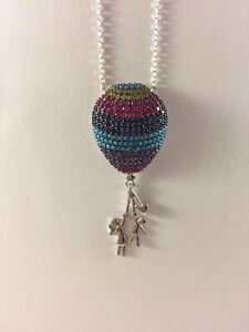 Sterling Silver multi colors Air Balloon Necklace