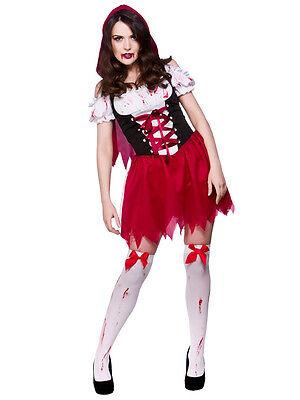 Womans Little Dead Riding Hood Horror Halloween Fancy Dress Costume Outfit New - Little Dead Riding Hood Halloween Costumes