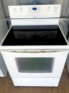 White *Whirlpool* Glasstop Stove (Delivery INCLD.!)