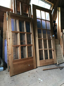 3 Pine glassed doors