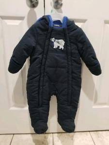 3-6 Month Blue Winter Snowsuit - Brand New
