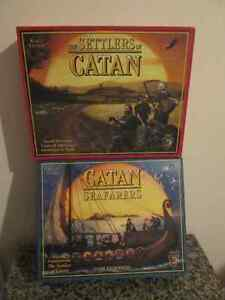 Settlers of Catan and Seafarers Expansion Boardgame