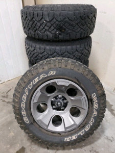 """5 (Five) NEW 5X127"""" RIMS on newer 265/70R17 Duratracs"""