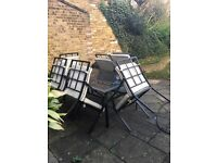 Great 6 seater weatherproof metal garden set with 6 chairs