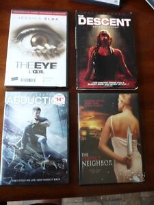 Dvds- The Descent,The Eye, Abduction and The Perfect Neighbors