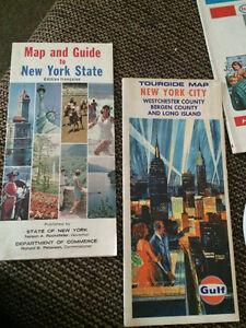 Lot of Vintage 1950's Paper Folded Roap Maps, Esso, Shell Mobile Cambridge Kitchener Area image 6
