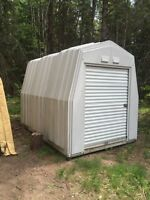 12 by 11 by 8 industrial fibreglass shed