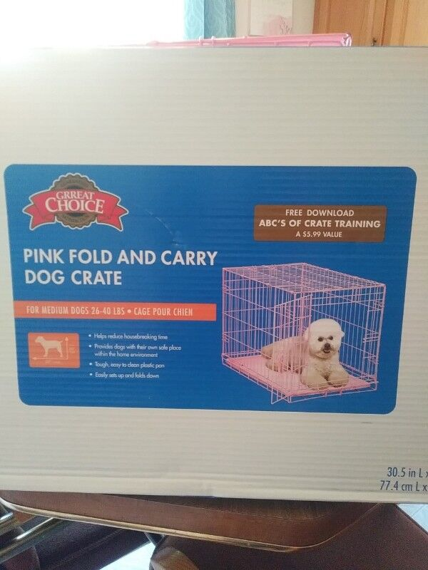 Pink- Grreat Choice® Wire Dog Crate 30\