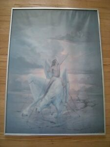 FOR SALE: JOHN PITRE VINTAGE FRAMED ART POSTER