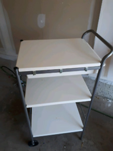 3-level trolley/ tray with drawer and hooks