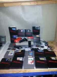 Nintendo nes system and 17  games