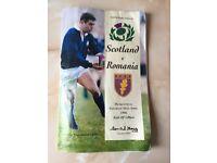 Scotland v Romania Rugby programme