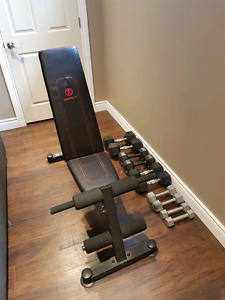 Marcy workout bench and dumbbell set