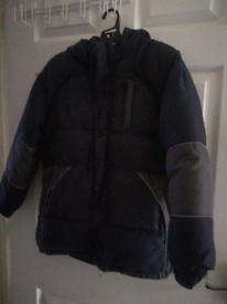 Padded boys coat - age 10-11 years